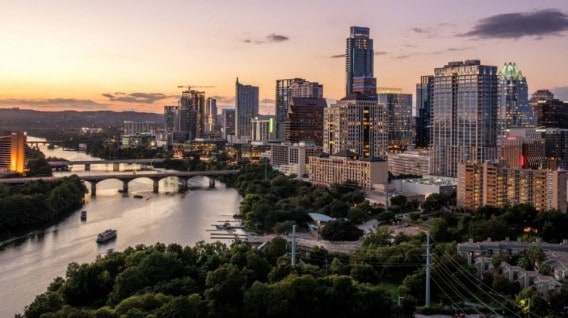 city skyline of Austin TX